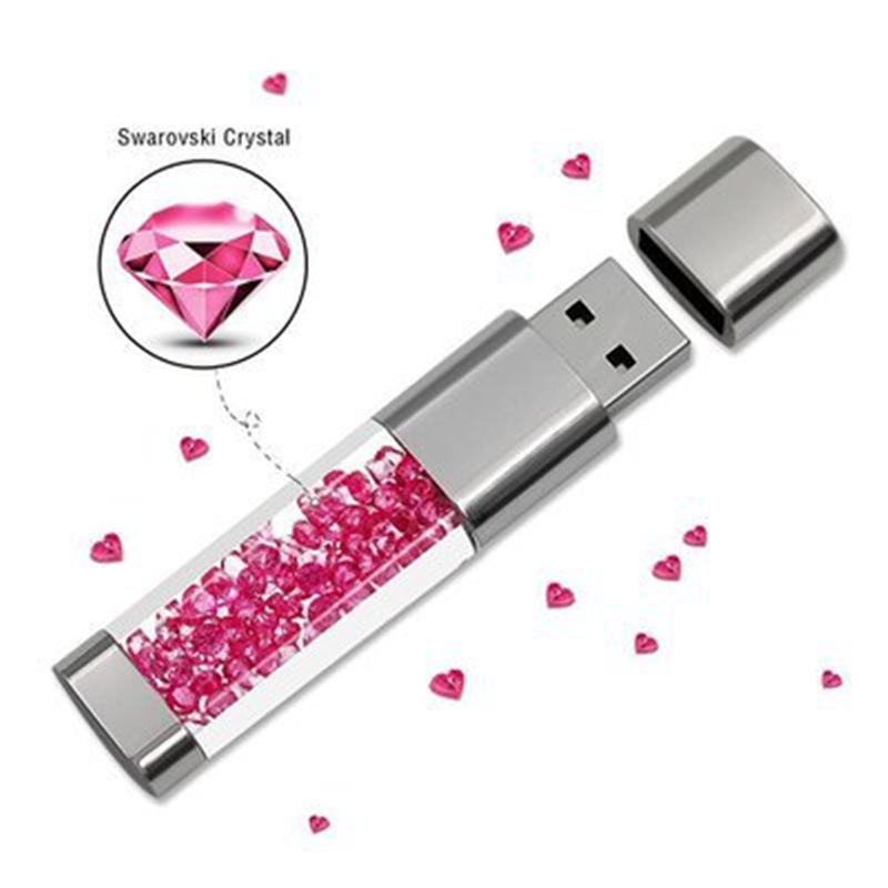 Fashion Real Capacity Usb Flash Drive 32GB 64GB Crystal Pen Drive 16GB Usb Stick 8GB Pendrive Memory Stick U Disk  Flash Drive