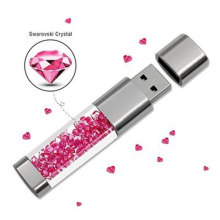 Moda Real Capacidade Usb Flash Drive GB 64 32 GB Cristal Pen Drive GB Usb Stick 8 16 GB Pendrive memory Stick U Disk Flash Drive(China)