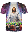 WOMEN MEN 3D tshirt hip hop O-neck Tee Shirts summer style t shirt Jesus Died For Your Sims T-Shirt Galaxy Nebula Tops TEE