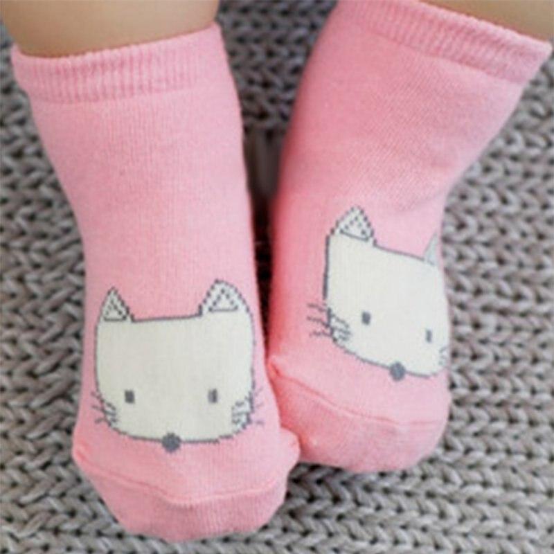 0-4Y Cartoon Animal Baby Socks Newborn Baby Fox Printed Cotton Knee Socks Anti-slip Socks