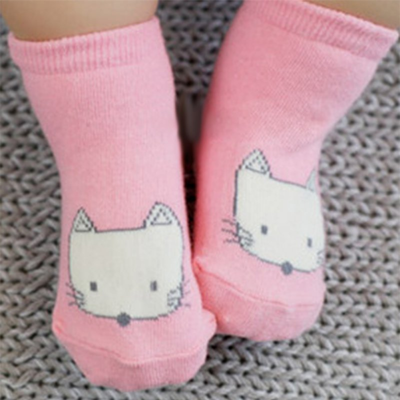 0-4y Cartoon Tier Baby Socken Neugeborenen Baby Fox Gedruckt Baumwolle Knie Socken Rutschfeste Socken