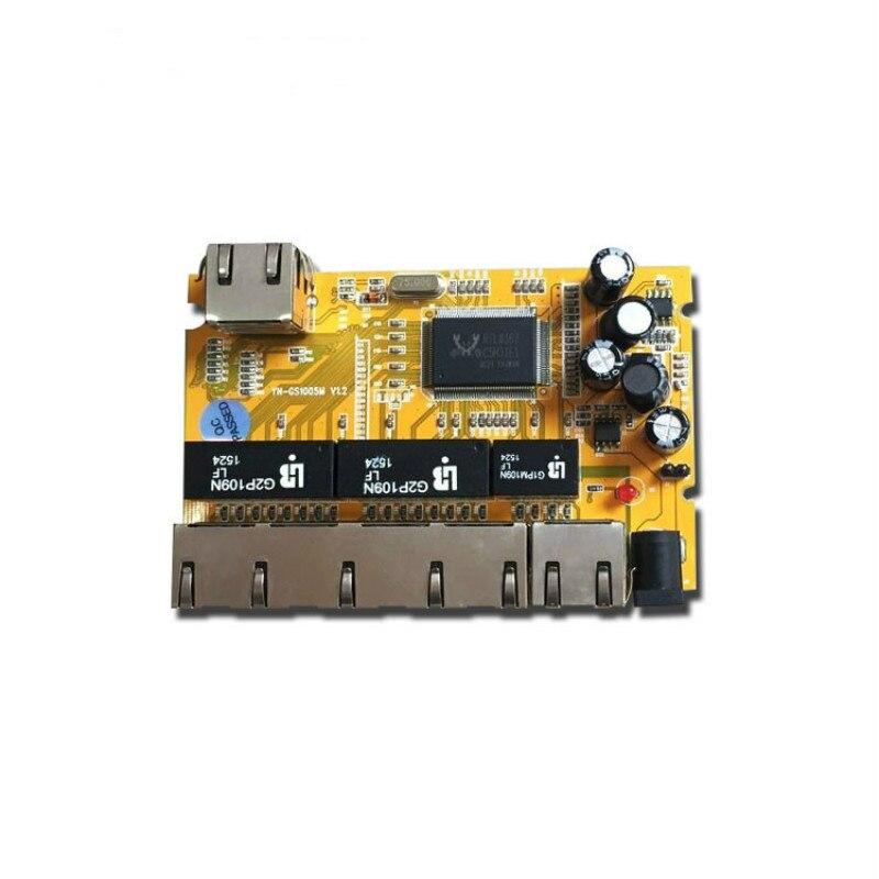 OEM/ODM RTL8367 6 портов 10/100/1000 Мбит/с гигабитный ethernet коммутатор модуль PCB Промышленный Коммутатор модуль гигабитный коммутатор модуль PCBA