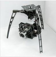 Three axis Synchronous Belt Drive Glass Fiber Pan/Tilt Camera Mount PTZ + 3 GS 9257MG Servo