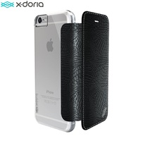 For IPhone 6s 6 X Doria Engage Folio Lux PU Leather Polycarbonate Wallet Case