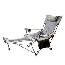 Chaises de plage pliantes portatives de chaise de pêche siège de bouteille de poche Camping 150 kg chaises nettes respirantes mobiles avec le sac