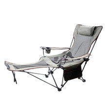 Fishing Lay Down Chair Portable Folding Beach Chairs Pocket Bottle Seat Camping 150kg Movable Breathable Net Chairs with Bag(China)