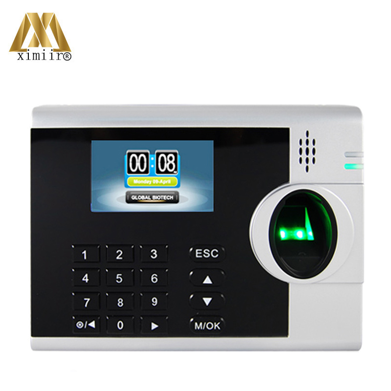 New Arrival ZK Time Attendance Machine XM218 Fingerprint Time Recorder TCP/IP Employee Time Terminal