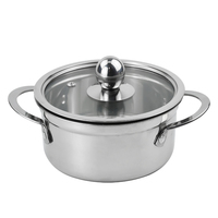 Cooking pots and pans stainless steel cookware hotpot soup pans noodles milk pots suitable for home and restaurant