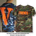 VLONE Virgil FRIENDS T-shirt Mens New Casual Short Sleeve Camouflage Tee Tops