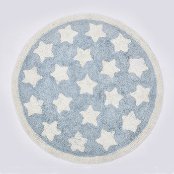 Nordic Cartoon Stars Children Play Tent Floor Mat Cloakroom Rugs And Carpets Round Large Carpets For Living Room Chair Area Rug