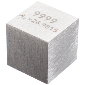Image 4 - 1pcs 99.99% High Purity Aluminum Alloy Element Cube 10mm Metal Density Cubes Carved Element Periodic Table Cube