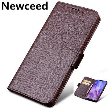 Genuine Leather Business Wallet Case Card Holder Coques For ViVo Z6/ViVo Z5/ViVo Z5X/ViVo S6/ViVo S5/ViVo U3X Phone Covers Cases фото