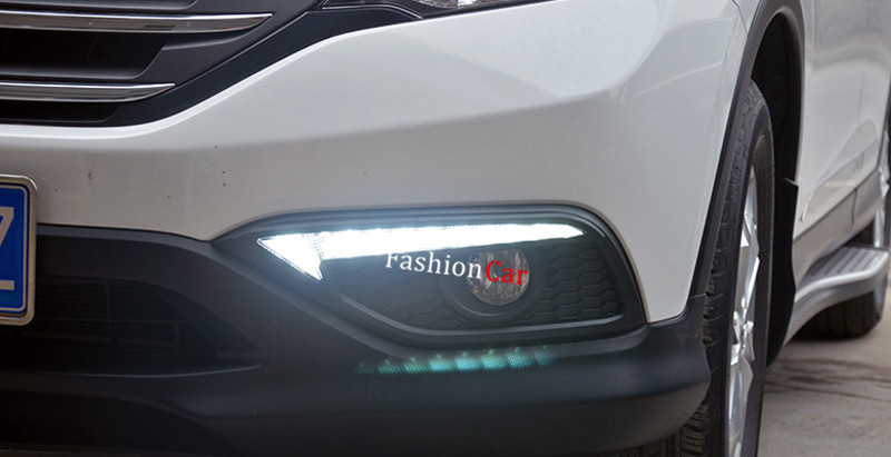 2pcs/set Car DRL daytime running lights For HONDA for CRV 2012 2013 2014 (Not fit North-america type)