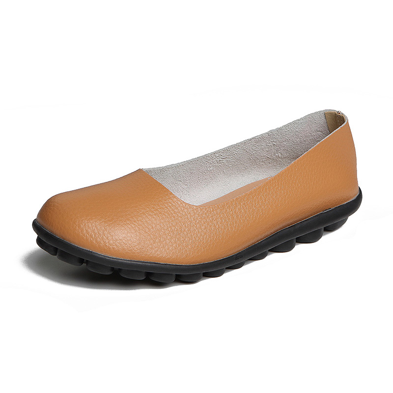 Women Flats Real   Leather   Shoes Moccasins Mother Loafers Creepers Soft Shoes Woman Casual Female Driving Ballet Footwear