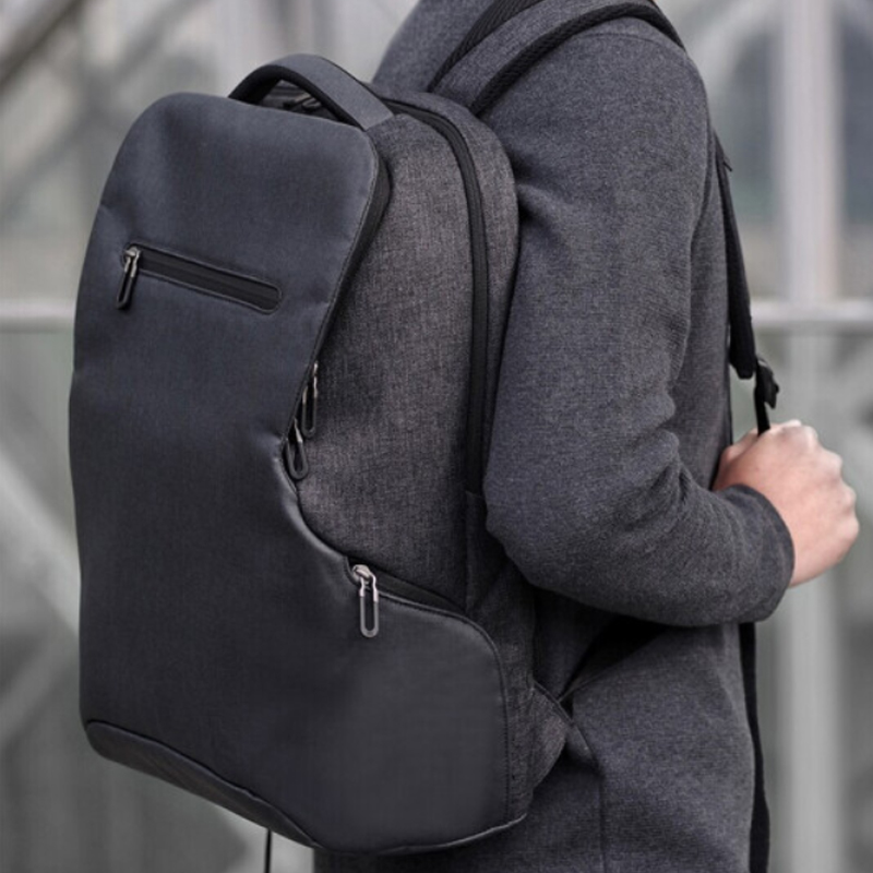 Simple Patchwork de gran capacidad para hombre mochila de cuero para viaje Casual mochila para hombre mochila de viaje de cuero - 5