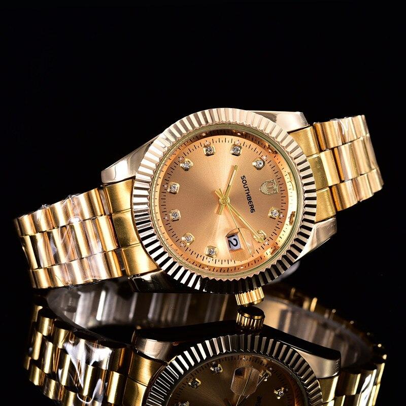 2020 New SOUTHBERG Watches Men Top Luxury Brand Hot Design Sports Wrist Watches Men Digital Quartz Steel Band Rolexable Watch