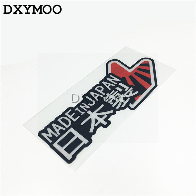 Made in japan car stickers national flag japanese motorcycle auto window tail vinyl decals 3m reflective