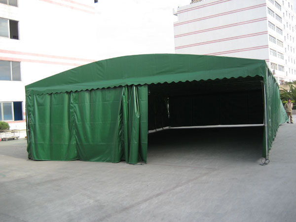 Outdoor activities garage sliding folding mobile carport ...