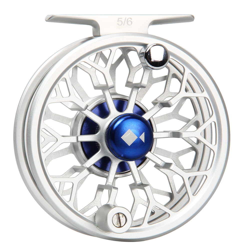 3/4 5/6 7/8WT Fly Reel CNC Machined 6061 Aluminum Full Metal Reel Large Arbor Silver/Blue Color Fly Fishing Reel marantz na 6005 black