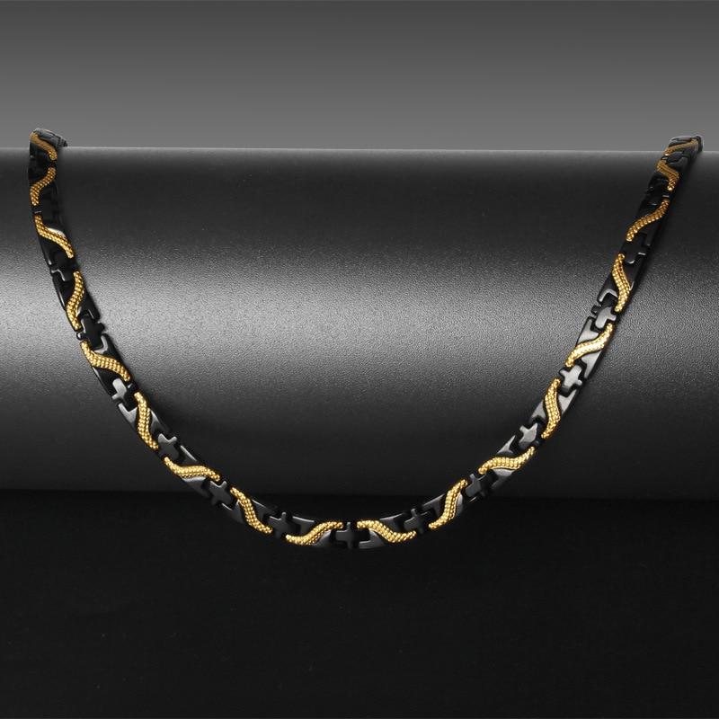 Nouvelle arrivée en acier inoxydable chaîne colliers coulée Dragon Lock fermoir hommes lien bijoux