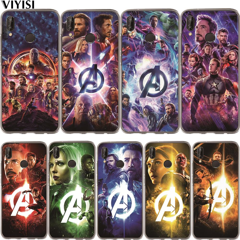 Marvel Avengers Iron Man Luxury Captain America Superhero Case Etui For Huawei Honor 10 Lite 10 9 8 7A 7C 7X 7 6A Coque Fundas image