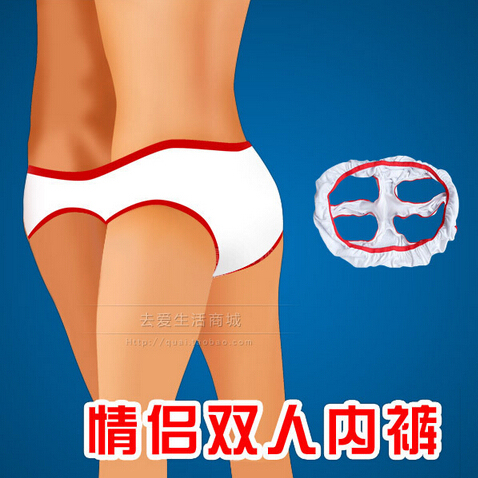 Free Shipping 1 Pcs Double dance thong couple lovers underwear pants T pants sexy lingerie For woman man underwear