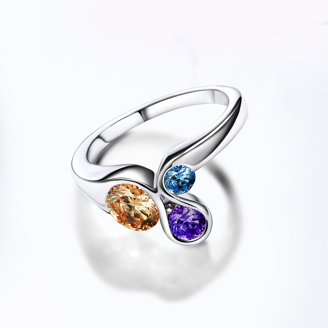 Multicolored Women's Party Ring