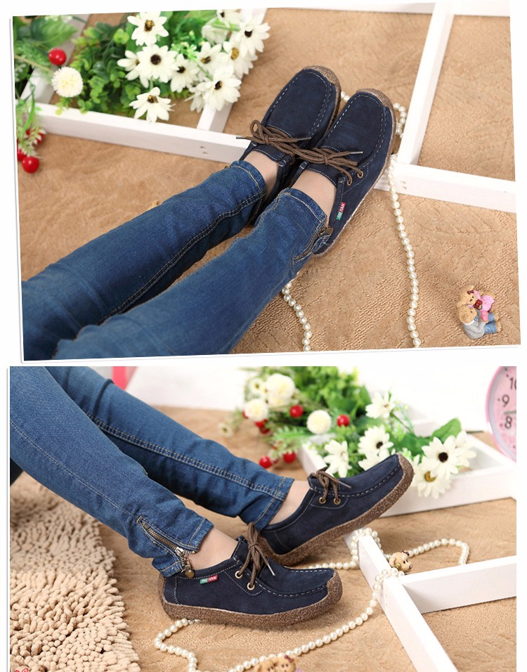 Hot Sale 2016 Winter Warm Women Flats Leisure Solid Comfortable Women Casual Shoes New Fashion Wild Lace-up Ladies Shoes SDT90 (1)