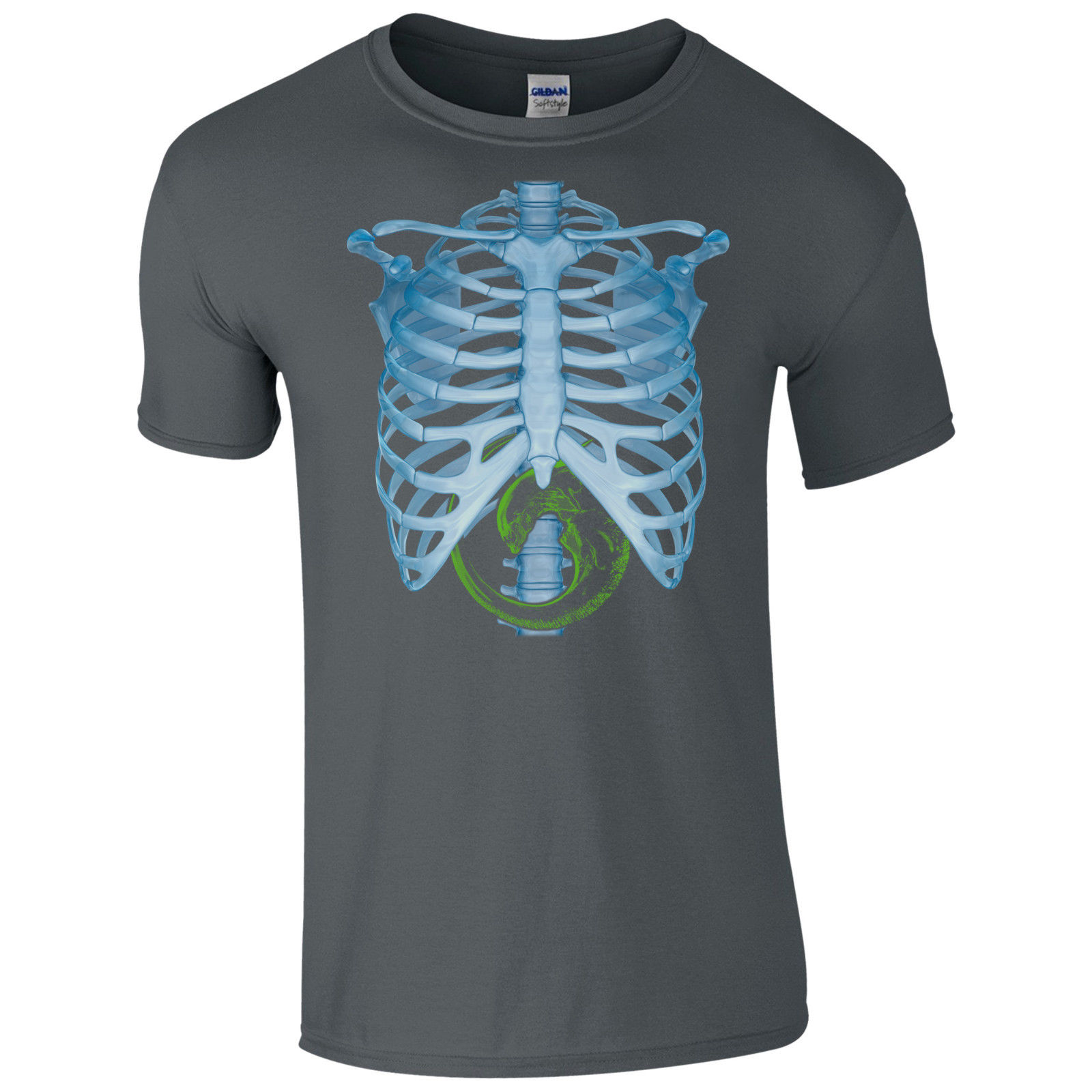 US $13 04 13% OFF Alien Body X Ray T Shirt Xenomorph Baby XRay Covenant Fan  Sci Fi Mens Gift Top Printed T Shirt 2017 Fashion Brand Top Tee-in
