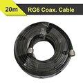 20 metros Baja Pérdida de Cable Coaxial RG6 50ohm N Macho a N Macho Conector Coaxial Cable de Comunicación Para Amplificador de Señal de Teléfono Móvil