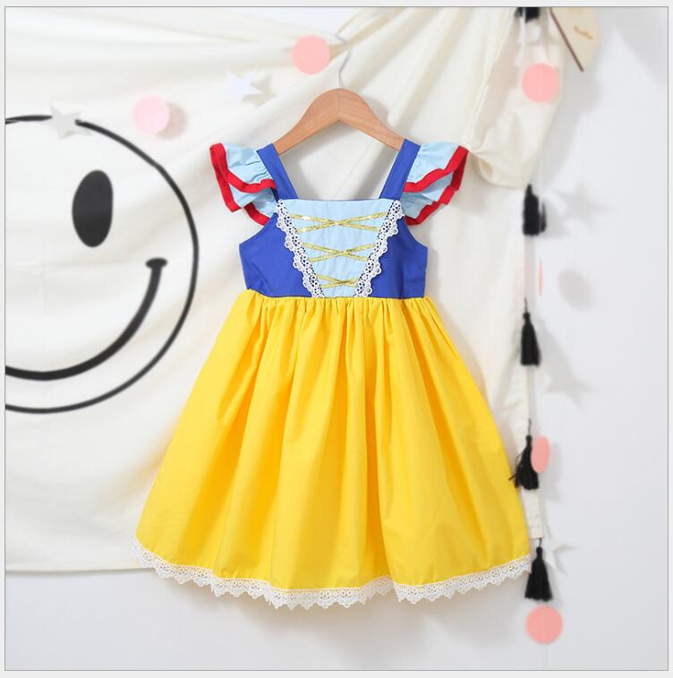 Snow white dress for Halloween baby girl cartoon costume for queen of the snow party children's clothing for girls the snow queen