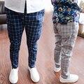V-TREE meninos calças 3-12Y crianças de algodão harem pants crianças calças xadrez calças roupas roupas infantis menino da escola das crianças