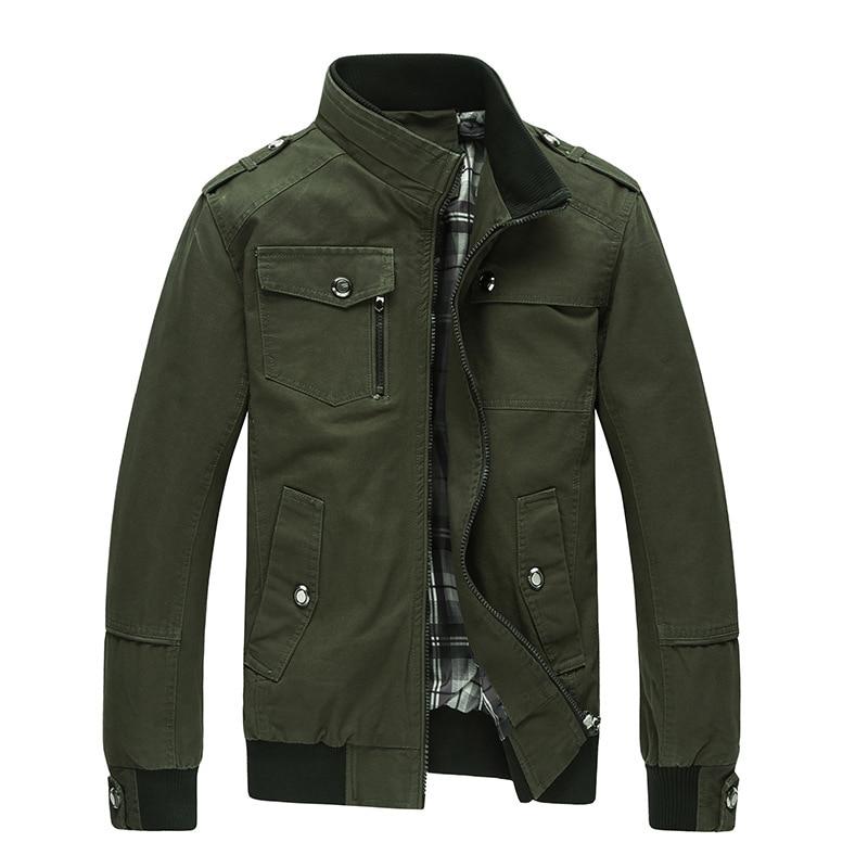 Mens Casual Jacket Spring Army Military Khaki Jacket  1