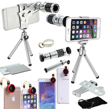 Universal Camera SmartPhone Lente Kit Four Awesome Lenses&Mini Tripod For Samsung S5 S6 mini S2 A3 A5 A7/For LG G4/For Xiaomi