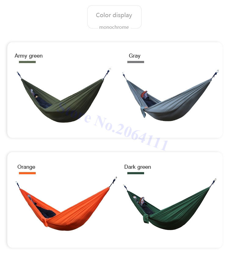 Outdoor double Hammock Portable Parachute Cloth 2 Person hamaca hamak rede Garden hanging chair sleeping travel swing hamac 10