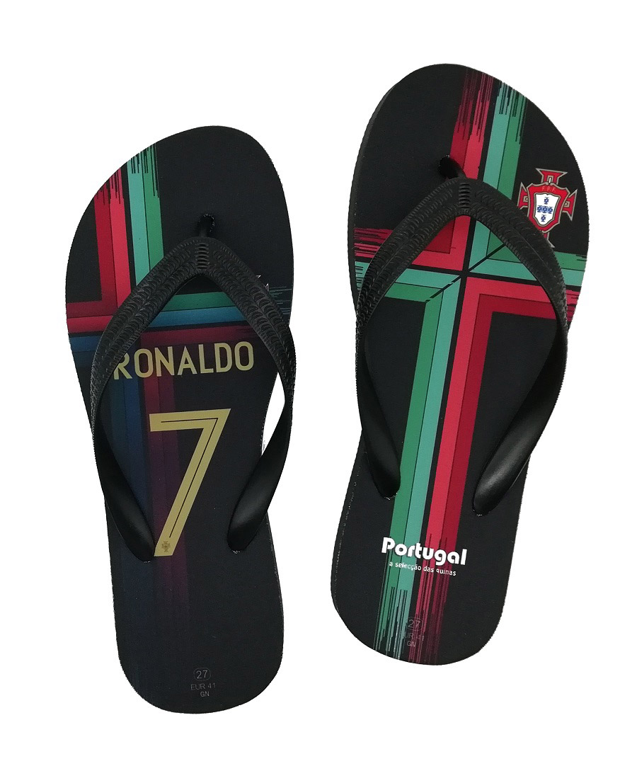 Portugal National Team Beach Shoes Any Name Slippers Serviette Football Travel Fans Flip Flops