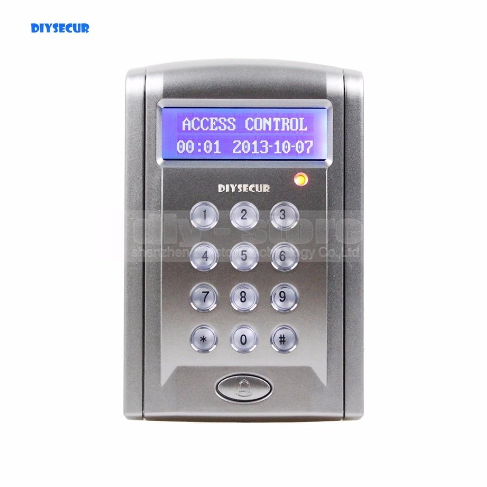 DIYSECUR Proximity RFID Reader 125KHz Keypad Access Controller Security System Kit With Doorbell Button + 10 Free Keyfobs turck proximity switch bi2 g12sk an6x