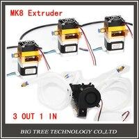 Экструдер полный комплект lite6 латунь multi Цвет сопла 3 в 1 из 0.4 мм для 1.75 мм с MK8 междугородние полный комплект