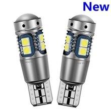2 uds alta calidad T10 W5W Super brillante 3030 LED Interior del coche lectura cúpula marcador de luz de la lámpara 168 194 cuña Auto LED aparcamiento bombillas