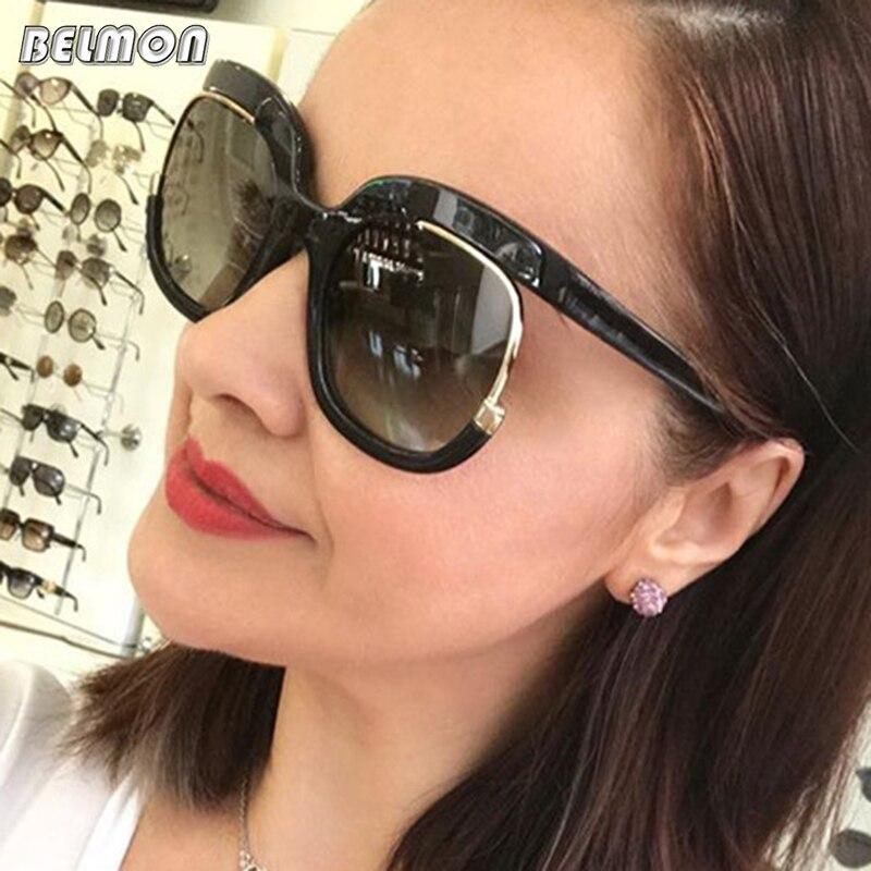 Belmon Sunglasses Women Fashion Brand Designer Sun Glasses For Ladies Luxury UV400 Gradient Female Oversized Shades RS377
