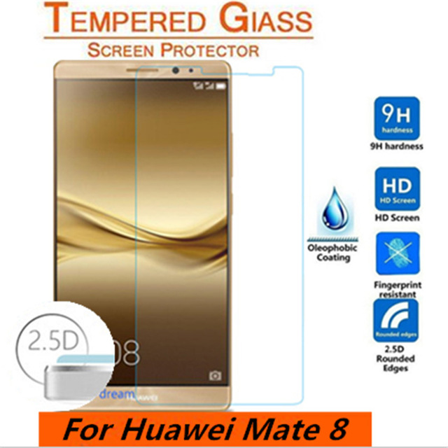2.5D For Huawei Mate 8 Tempered Glass Original High Quality Protective Film Explosion-proof Screen Protector for Huawei Mate8