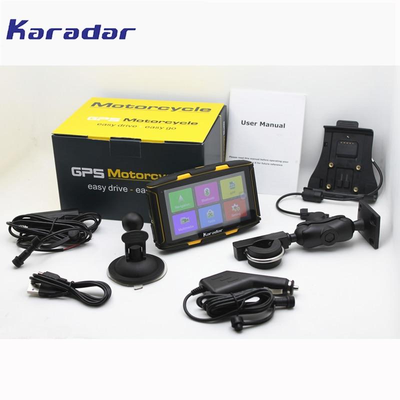 Новые 5 дюймов Android навигатор Водонепроницаемый Moto rcycle GPS навигатор с Wi-Fi/BT/FM играть GPS Moto karadar MT-5001