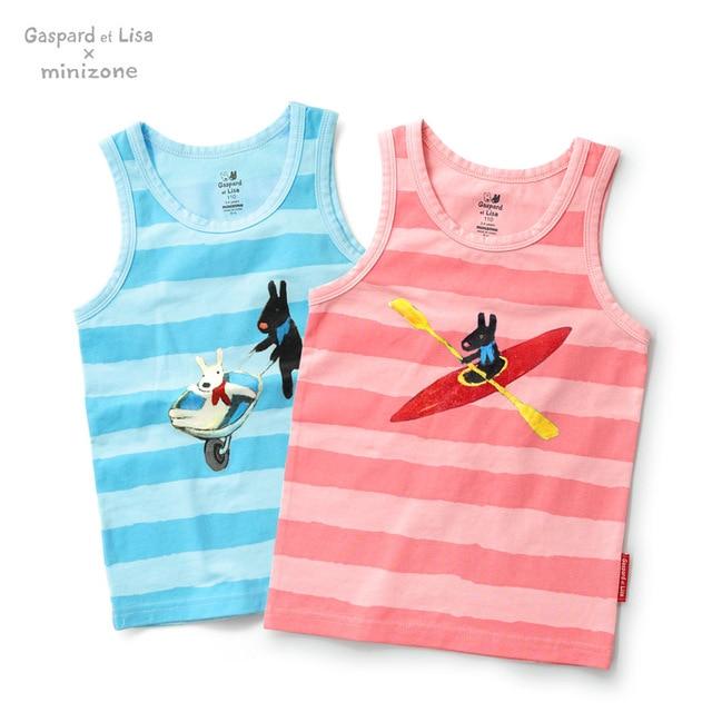 2016 New arrival  Grils Boys Cotton Sleeveless Vest Kids  Clothes Children Clothing Roupas Infantis Menino