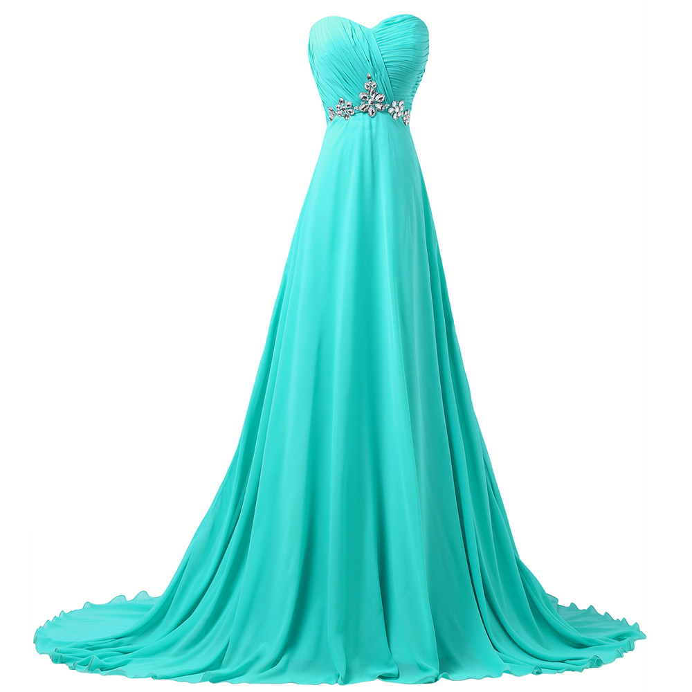 Aliexpress.com : Buy Turquoise Long Bridesmaid Dresses ...