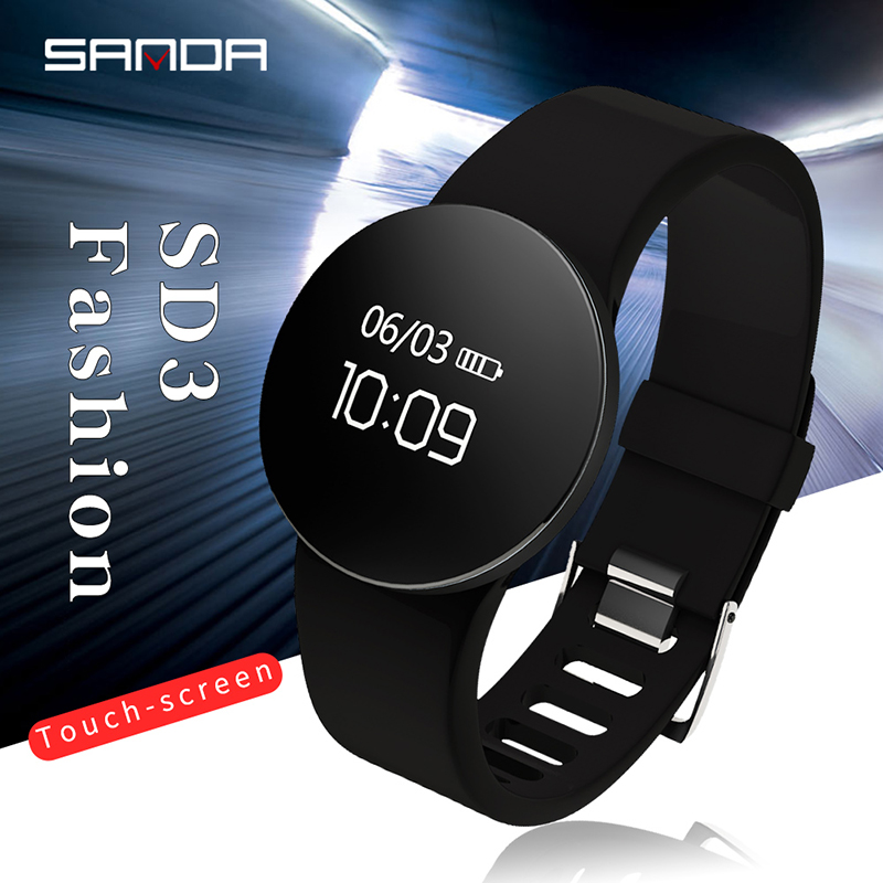 SANDA Waterproof Bluetooth Smart Watch Pedometer Fitness Tracker Call Reminder Smartwatch For IOS Android Men Women Clock SD03