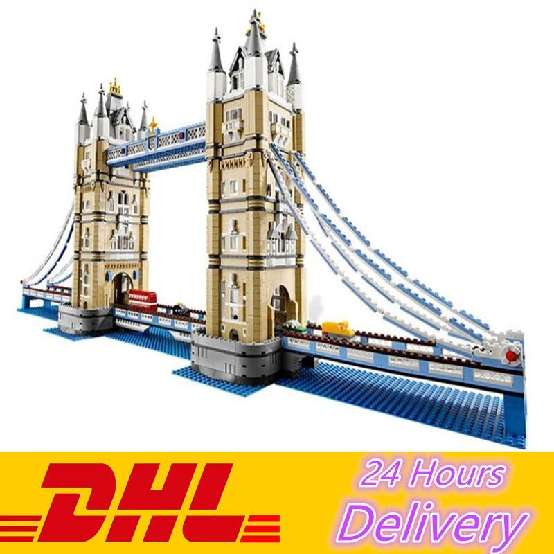 LEPIN 17004 4295Pcs Expert London Tower Bridge Model Building Kits Blocks Bricks Compatible Toys Gift 10214 lepin 22001 pirate ship imperial warships model building block briks toys gift 1717pcs compatible legoed 10210