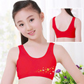 Children/kids/ Puberty Young girl student Teenagers cotton underwear Red color character printing Training Bras camisole(8-12Y)
