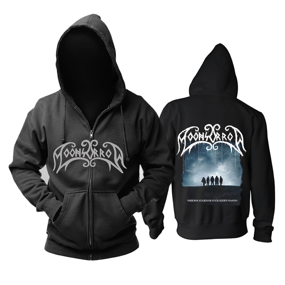 Black Hoodie Ja Moonsorrow Album Asian-Size Bloodhoof Voimasta in Men