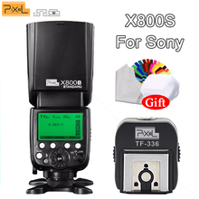 PXIEL X800S Standard 60GN S1/S2 TTL 1/8000s Wireless Flash Speedlite &TF-336 Hotshoe Adapter with PC Port For Sony DSLR Cameras цена и фото