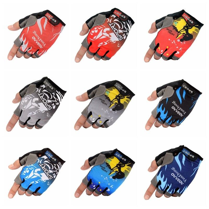 Anti Slip Gel Pad Motorcycle MTB Road Bike Gloves Sports Fishing Gloves Half Finger Cycling Gloves Breathable